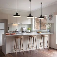 What You Don't Know About Impressive Ideas for Making a Trendy Small Dimension Minimalist Kitchen - homevignette U Shaped Kitchen, Home, Kitchen Remodel, Kitchen Design, Stylish Kitchen, Kitchen Trends, Beautiful Kitchens, Minimalist Kitchen, Kitchen Vent