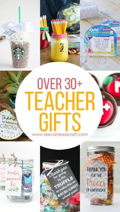 Over 30+ Teacher Appreciation or Back to School Gift Ideas that teachers will love!