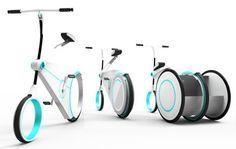 Transforming Commuter Bike Has Expanding Cargo Wheel