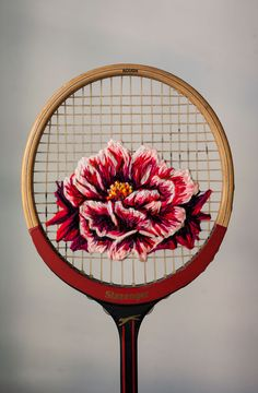 """pvnkbaby: """" Danielle Clough racket embroidery (source) """""""