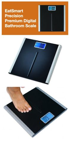"""EatSmart Precision Premium Digital Bathroom Scale with 3.5/"""" LCD and /""""Step-On/""""..."""