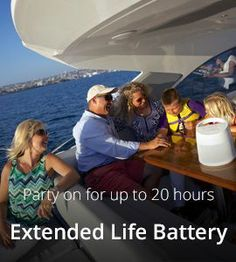 Party on for up to 20hours with Melody's extended life battery.  HD Bluetooth® plays the best sound you'll ever hear on the boat. ($449)