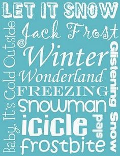 Winter printable