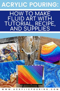 Whether you call it fluid art, flow art, liquid art, pour painting or acrylic pouring, chances are good that you've Liquid Acrylic Paint, Flow Painting, Acrylic Pouring Art, Acrylic Painting Techniques, Pour Painting, Acrylic Art, Knife Painting, Painting Lessons, Acrylic Tutorials