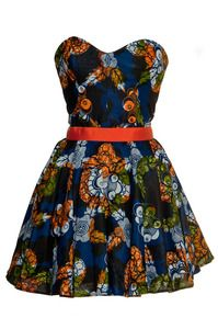 Tribal African Print Party Dress