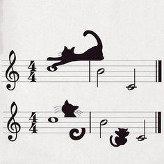 (2) TITA Bonecos Cats, music staff