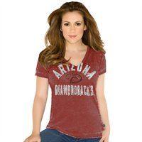 Touch by Alyssa Milano Atlanta Falcons Women's Kickstart Slim Fit V-Neck T-Shirt - Red