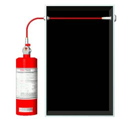 """Firetrace's fire protection - direct release systems utilize the Firetrace tube as both the """"detection device"""" and """"suppressant delivery."""