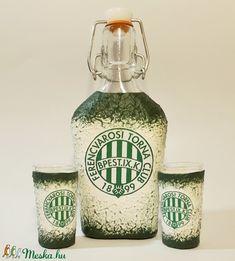 Ftc dísz- és használati csatos üveg  röviditalos pohárral foci rajongói ajándék. (Biborvarazs) - Meska.hu Ac Milan, Manchester United, Real Madrid, Subaru, Arsenal, Liverpool, Chelsea, Jar, Bottle