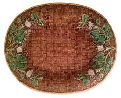 Majolica Morning Glory Platter