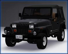 Fresh-Prince Creations - Sims 3 - 1988 Jeep Wrangler