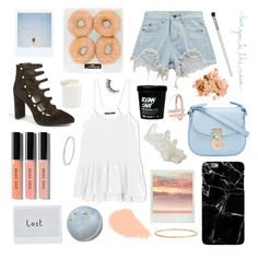 """Sunset"" by briesepb ❤ liked on Polyvore featuring Vince Camuto, Diptyque, Polaroid, Bobbi Brown Cosmetics, Chicnova Fashion, Giorgio Armani, TIBI, Natural Life, Cath Kidston and Catbird"
