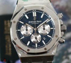 Audemars Piguet Watches, Audemars Piguet Royal Oak, Old Watches, Mechanical Watch, Chronograph, Omega Watch, Old Things, Stainless Steel, Luxury
