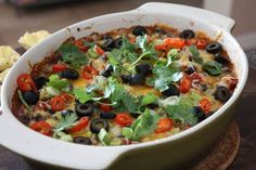A perfect Hot Black Bean Fiesta Dip for game day snacking.