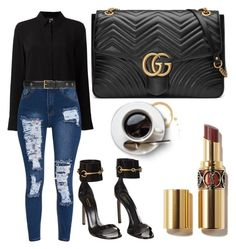"""Untitled #10510"" by tatyanaoliveiratatiana ❤ liked on Polyvore featuring Class Roberto Cavalli and Gucci"