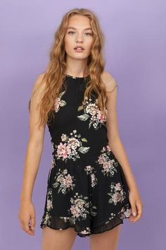 Shop Black Tropical Mesh Tankini Top at Yours Clothing. Playsuit Romper, Lace Romper, Floral Romper, White Romper, Bikini Rot, Mini Club Dresses, Crepe Fabric, Short Tops, Rompers Women