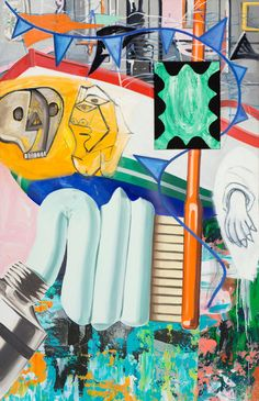 Review: David Salle Paintings Deliver Colliding Culture at ...