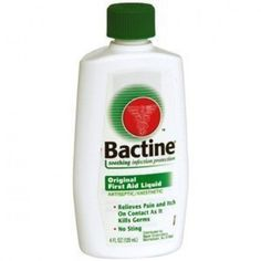 Bactine is a life-saver for fever blisters!