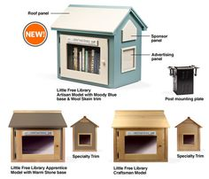 Little Free Libraries provide accessible libraries throughout communities.