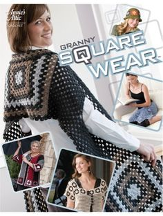 Each of these 9 stylishly modern designs uses a form of the tried-and-true classic Granny Square design, but the end result is a truly up-to-date collection of fun, fashionable accessories. Stitch coats, shawls, lacy tops and more using a variety of yarns and thread in sizes from ladies small to 5XL. Skill Level: Easy to Experienced