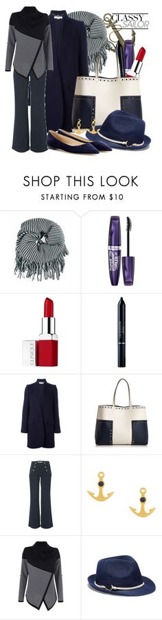 """Classy Sailor"" by baratheon-girl ❤ liked on Polyvore featuring Riah Fashion, Rimmel, Clinique, Christian Dior, STELLA McCARTNEY, Tory Burch, French Connection, Astley Clarke, Vince Camuto and Jimmy Choo"