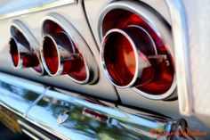 1964 Chevy Impala SS Taillights - Metallic Photograph - Vintage Car - Retro Wall Art via Etsy