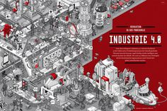 """Wimmelbild """"Industrie 4.0″"""