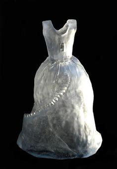 "Mielle Riggie ~ ""Montagna"" (2010) Kiln-formed glass"