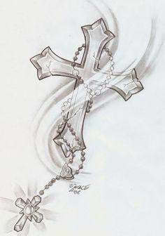 tattoo alcantara: pretty cross