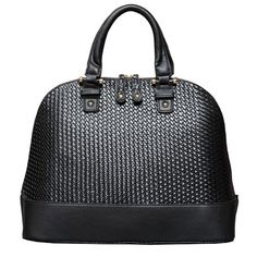 Lara Woven Dome Satchel in Black by Elise Hope by Elise Hope on Opensky