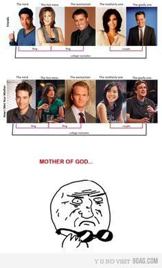 How I Met Your Mother. Love it cause I've thought of a lot of similarities myself! HIMYM will always be the best though. Serie Friends, Friends Moments, Friends Show, Friends Tv Quotes, How I Met Your Mother, Movies And Series, Movies And Tv Shows, Book Series, Best Tv Shows