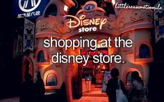 Shopping at the Disney store, Little Reasons to Smile