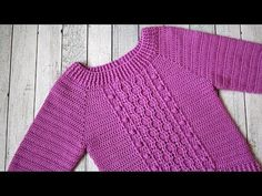Crochet Stitches, Embroidery Stitches, Crochet Patterns, Crochet For Kids, Knit Crochet, Crochet Baby Clothes, Baby Kind, Crochet Videos, Crochet Cardigan