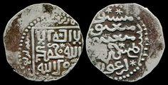 MONGOL COIN with KALIMA-Ilkhans-Arghun-Uyghur legends-Rare mint Bazar-i Lashkar.Монголы Персии Ильхан Аргун.