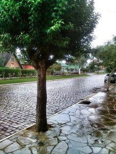muita chuva na vila de Criúva.