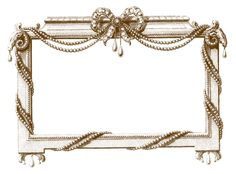 These are some lovely and very ornate French Graphic Frames! I love all of the embellishments on these, like the beautiful Jeweled Bow and the strands of ...