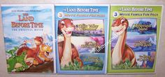 The first half of the popular dino movie series- get it here: The Land Before Time: 1 2 3 4 5 6 7 DVD Set 7-Movie Collection I-VII - BRAND NEW