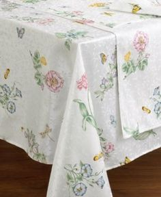 "Lenox Butterfly Meadow Oblong 60"" x 102"" Tablecloth - Multi"