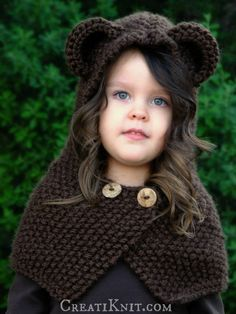 The Briar Bear Cowl - Knitting Pattern (Baby, Toddler, Child, Adult sizes)