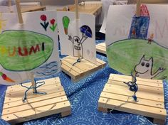 Muumi-projekti - www.opeope.fi Tove Jansson, Moomin, Wood Crafts, Coasters, Wood Ideas, Drink Coasters, Woodworking Crafts, Woodworking Projects, Woodwork