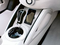 2011 Hyundai REMIX Technology Veloster. Integrated cell phone mount.