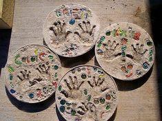 hand print stones