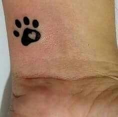 Searching for the perfect memorial tattoo for my WilliePete❤ Mini Tattoos, Cat Paw Tattoos, Little Tattoos, Trendy Tattoos, Animal Tattoos, Body Art Tattoos, Small Tattoos, Tattoos For Guys, Tattoos For Women