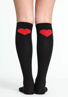 2ecd4f806a0 Heart Knee High Socks