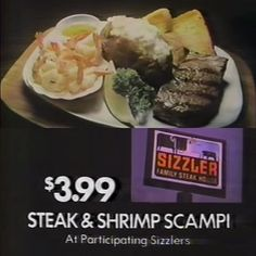 #SoCalTv #southerncaliforniatv #southerncalifornia #tv #commercials #vintage #classic #retro #sizzler #steak #shrimp #combo #cheesebread #restaurant #food