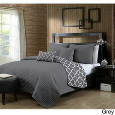 Geneva Home Fashion Griffin Quilt Set- Queen- Taupe at Lowe's. Country living at its finest with stylish Quilt sets to freshen up your bedroom. Bed Sets, Style At Home, Denver, Quilt Sets Queen, King Size Quilt, Stylish Beds, Shabby, Twin Quilt, Comforter Sets