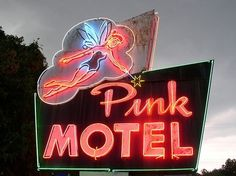 vintage neon signs at night | vintage neon signs | Vintage Neon Signs/ Night / Pink ... | Cool Signs