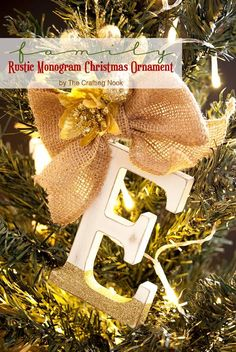 Need an idea to involve your family on your Christmas tree? You will love these cute and simple Family Rustic Monogram Christmas Ornaments