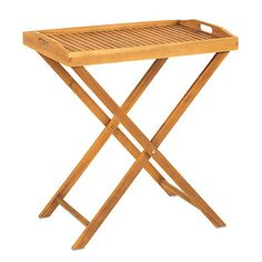 Westerly Acacia Wood Butler Tray with Stand