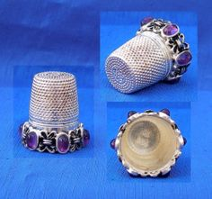 Silver 925 Thimble Amethyst Stones   eBay / Jan 23, 2014 / GBP 36.00